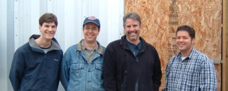 left to right - Stephen Ake, Dave Stephenson (pastor of Grace Bible Church, Greg London, and Don Elbourne.